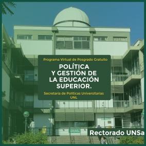 """Leer más:PROGRAMA DE POSGRADO VIRTUAL """"POLÍTICA Y GESTIÓN DE LA EDUCACIÓN SUPERIOR"""""""