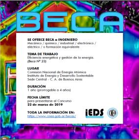 Leer más:Convocatoria para Beca destinada a Ingeniero