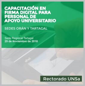 Leer más:Curso de capacitación sobre firma digital en la sede regional Tartagal