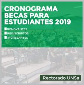 Leer más:Convocatoria Becas UNSa 2019