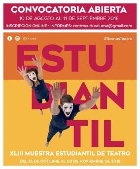 Leer más:Comenzó la convocatoria para participar de la XLIII Muestra Estudiantil de Teatro - Edición 2018