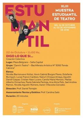 """Leer más:Por razones climáticas la """"XLIII Muestra Estudiantil de Teatro"""" se realizará en el Centro..."""